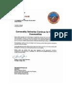 Statement From Yerington Paiute Tribe Commodity Food Program