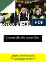Dossier de Presse Assemblée des Assemblées des Gilets Jaunes de Commercy