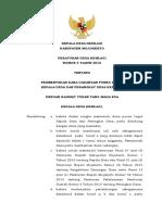Perdes Desa Kemlagi No.04-2016 Ttg Pembentukan Dana Cadangan Purna Tugas Kades & Perangkat Desa