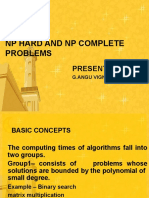 Np Hard and Np Complete Problems