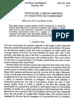Firms as Portfolios
