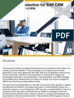 Desktop Connection for SAP CRM, Enterprise Edition 1.0 SP00