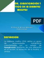 DEFINICIÓN, CLASIFICACIÓN Y DIAGNÓSTICO DE LA DIABETES CLASES UNU (1).pptx