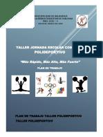 Plan de Trabajo Taller Deportivo 2018 A