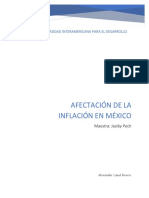 Afectación de La Inflacion en Mexico