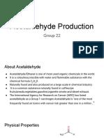 Acetaldehyde Economics