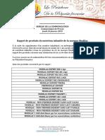 Communiqué - Rappel de Produits de Nutrition Infantile de La Marque Modilac
