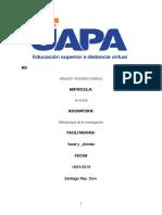 Tarea I Metodología de La Investigación II Arisleisy Tarea Numero 1 Lista