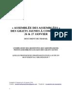 Document de Travail Pour Commercy - Compilation Des Propositions Stratégiques - 24 Janvier 2019