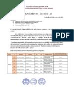 Comunicado N° 004 CER CRO III