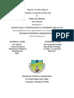 Report on Internship Sunny