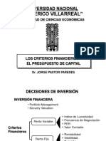 CriteriosFinancieros_Presupuesto de Capital