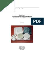 Molten Metal Filtration Final Report