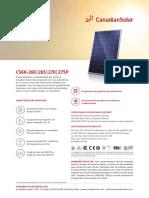 Catalogo Modulo Fotovoltaico NHS Solar Canadian
