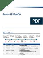Japan Trip Dec 2018 - Guide