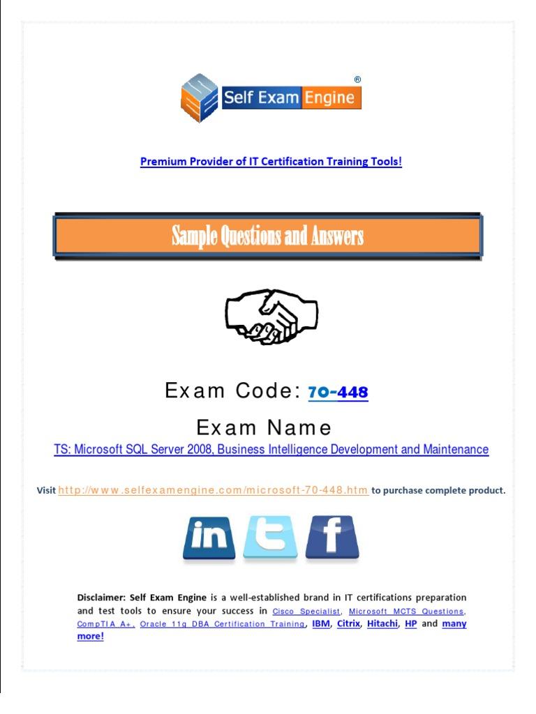 Microsoft 70 448 Exam Free Microsoft Sql Server Database Transaction