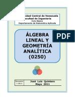 Álgebra Lineal y Geometría Analítica (0250)