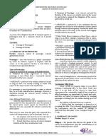 Transportation Law XU Portia Reviewer
