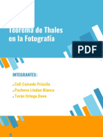 Teorema de Thales en la fotografía