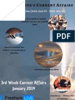 January 2019 3rd Week Current Affairs Update
