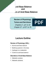 Disorders of Acid Base Balance