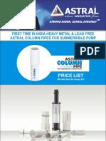 Astral Column Pipe Pricelist