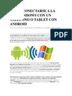 Cómo Conectarse a La Red Windows Con Un Teléfono o Tablet Con Android