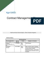 Contract Managementplan