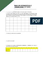 Trabajo Estadística y Probabilidad