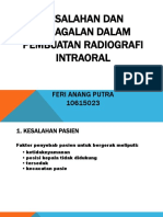 Kesalahan dan Kegagalan dalam Pembuatan Radiografi Intraoral.pptx