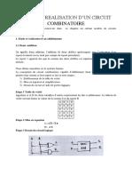 4 Etude Et Realisation d'Un Circuit Combinatoire