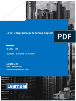 Level 7 Diploma in Teaching English