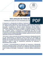 Declaração de Paris Acupuntura