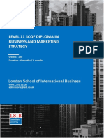 Level 11 SCQF Diploma in Business and Marketing Strategy