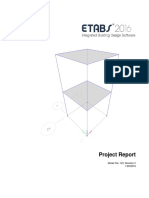 Project Report of Etabs Sample