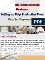 Wood Pulp Manufacturing Business