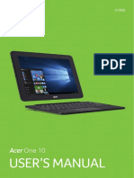 acer one manual