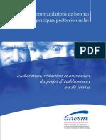 Reco Projet Etablissement Service ANESM 05 2010