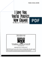 i Love You, You'Re Perfect... Now Change- Songbook