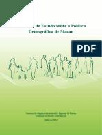 Relatório Do Estudo Sobre a Política Demográfica de Macau