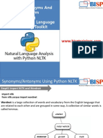 Python  NLTK Synonyms and Antonyms