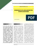EMBARAZO EN ADOLESCENTES COMPLICACIONES