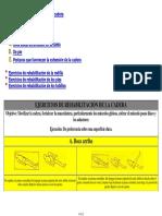 Ejercicios de Rehabilitación de La Cadera. a. Boca Arriba