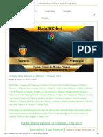 Prediksi Bola Valencia vs Villareal 27 Januari 2019 _ Liga Spanyol