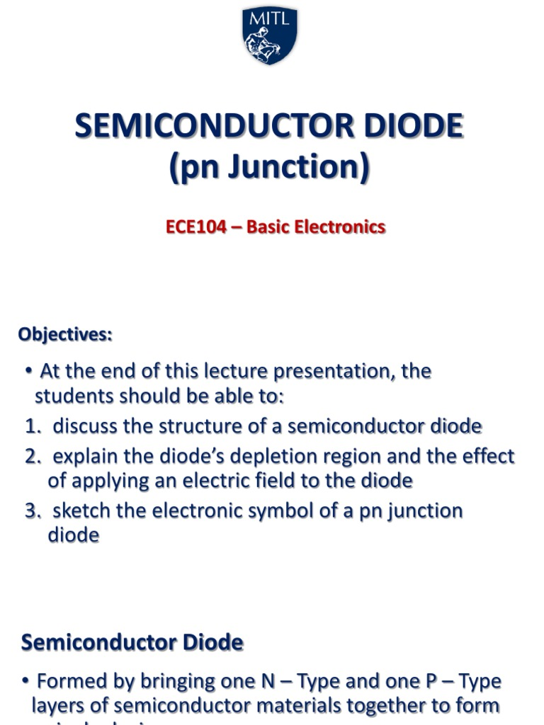 Pn Junction Diode And Its Characteristics Electronic Circuits And