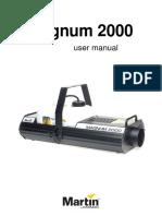 manual de maquina de humo Magnum2000