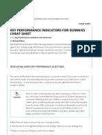 Key Performance Indicators for Dummies Cheat Sheet