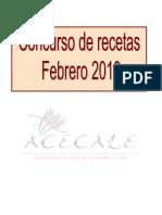 Recetario Concurso Web Febrero