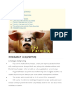 Introduction to Pig Farming