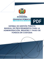 Manual Procedimiento Fondos en Custodia